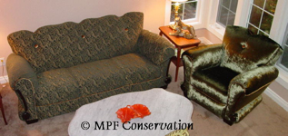 MPF Conservation French Deco Sofa and Chair