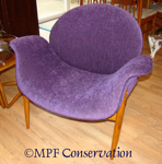 PAULIN CHAIR RESTORATION SIDE VIEW