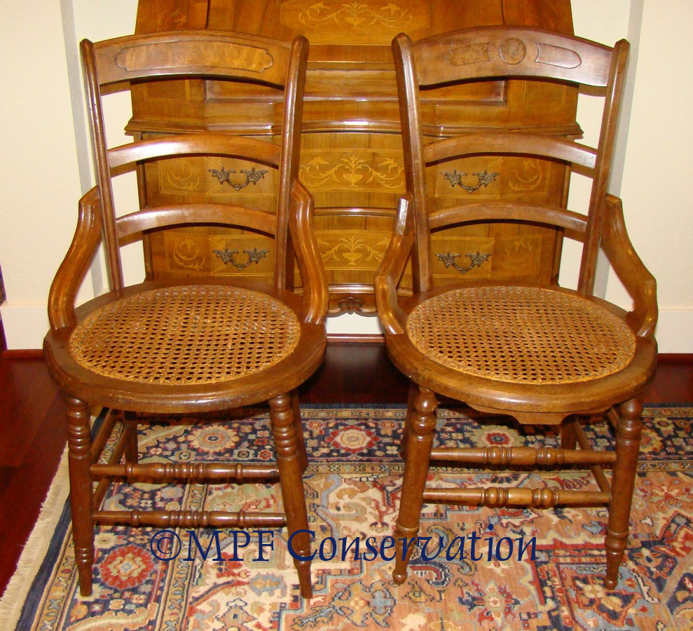 eastlake cane chairs - Chairs Rockers Footstools Upholstery Antique Restoration Portland Oregon