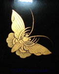 Chinese Lacquer Sewing Cabinet Butterfly