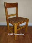 MASON MONTEREY WOVEN LEATHER CHAIR