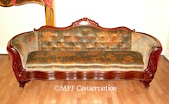 Antebellum Walnut Sofa