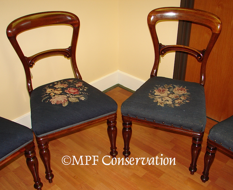 Dining chairs reupholster upholster conservation portland