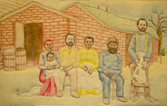 Ken Ellis' Shore Family Chicago Artist Quilted Embroidered Painting